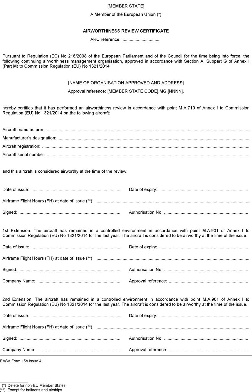 Commission Regulation (EU) No 1321/2014 of 26 November 2014