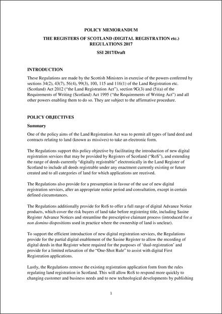 the registers of scotland digital registration etc regulations 2017