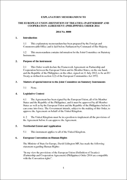The European Union Definition Of Treaties Partnership And
