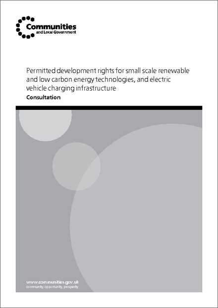 Permitted development rights for small scale renewable and low