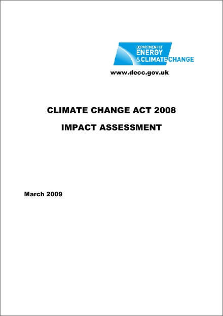 Impact Assessment of the Climate Change Act 2008