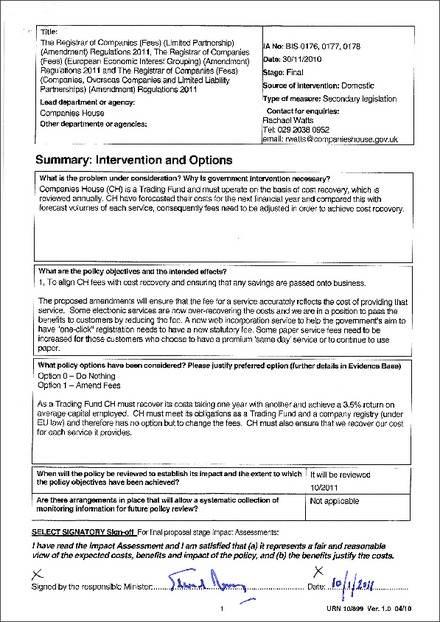 The Registrar of Companies (Fees) (Companies, Overseas