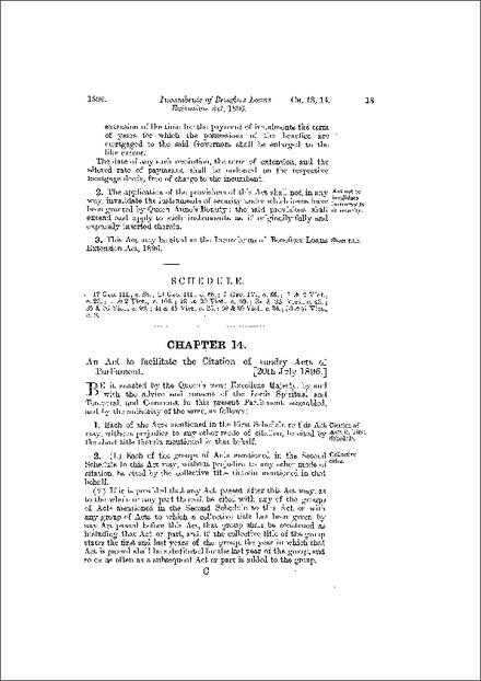 Short Titles Act 1896