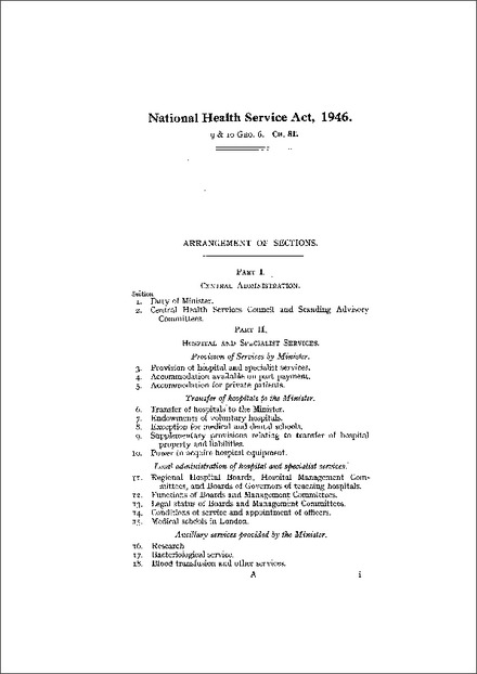 National Health Service Act 1946