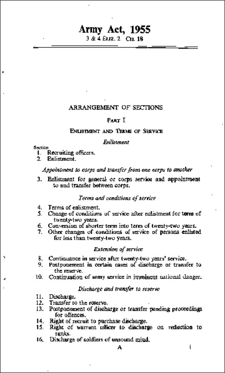 Army Act 1955