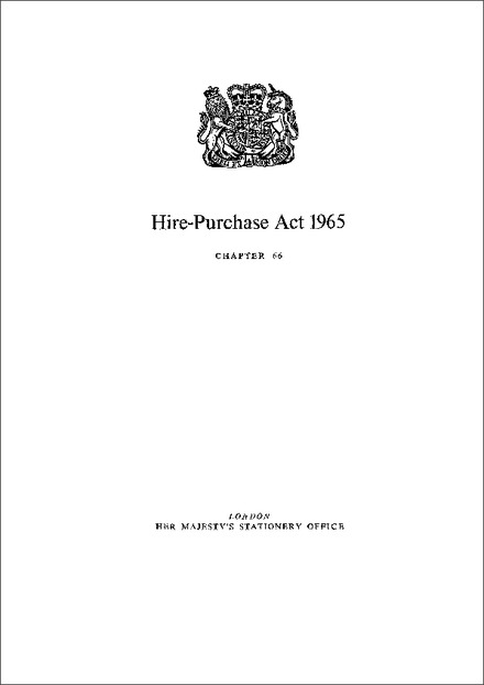 Hire-Purchase Act 1965