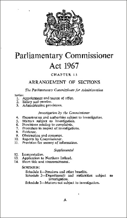 Parliamentary Commissioner Act 1967