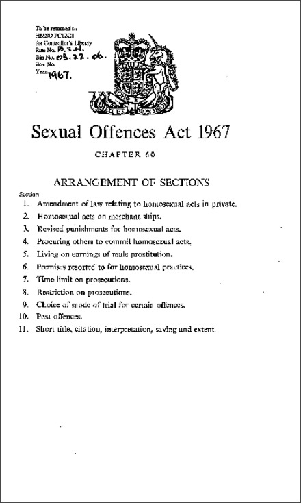 Sexual Offences Act 1967