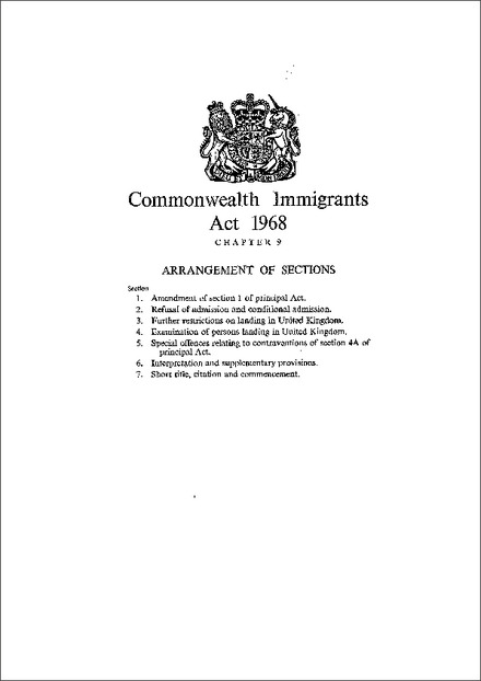 Commonwealth Immigrants Act 1968