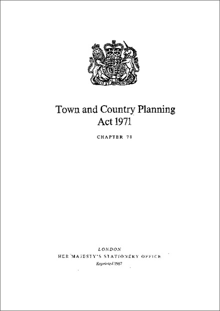 Town and Country Planning Act 1971