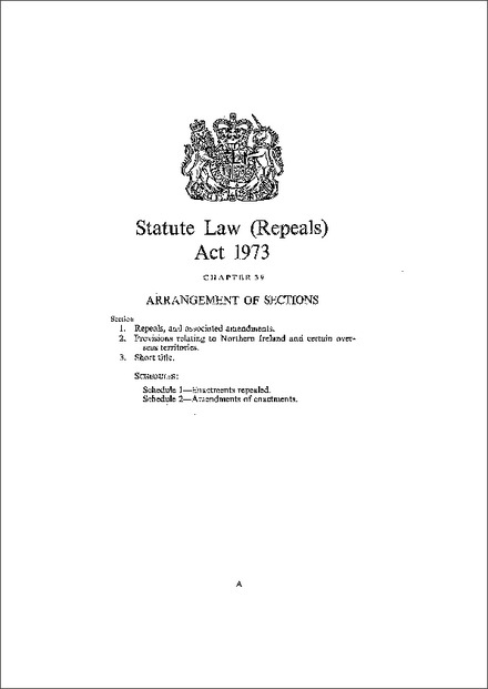 Statute Law (Repeals) Act 1973