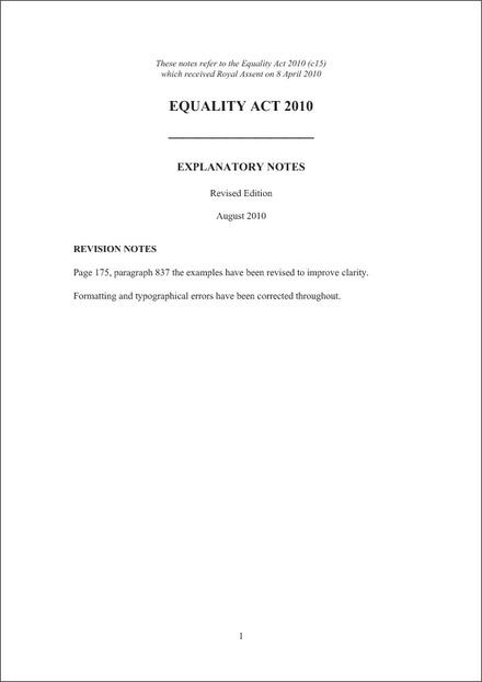 legislation relating to equality