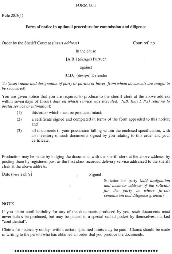 Sheriff Courts (Scotland) Act 1907