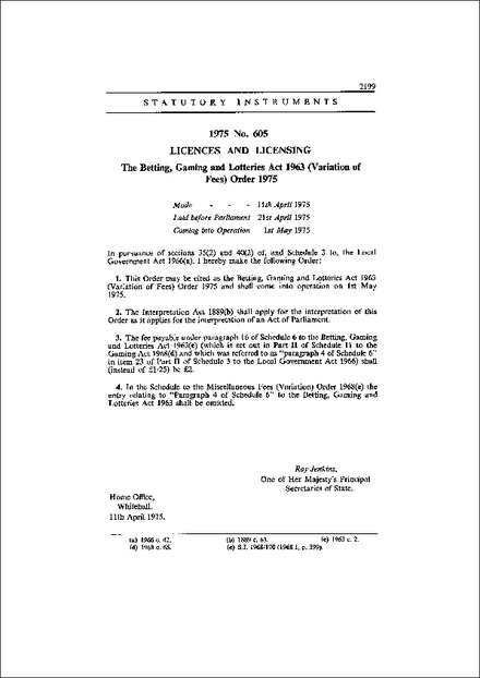 Betting gaming and lotteries act 1963