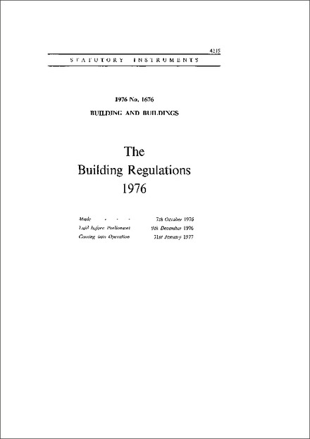 The Building Regulations 1976