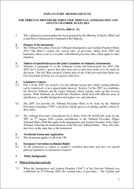 the tribunal procedure  first