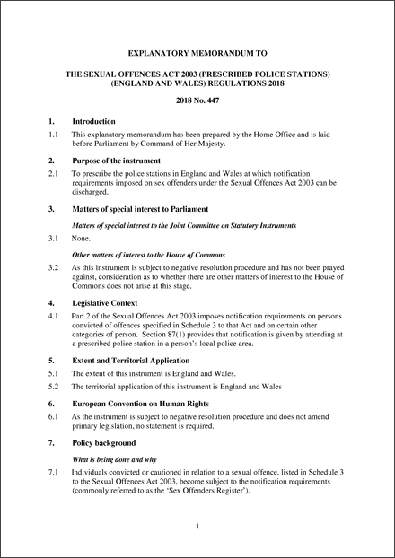 Sexual offence act 2018